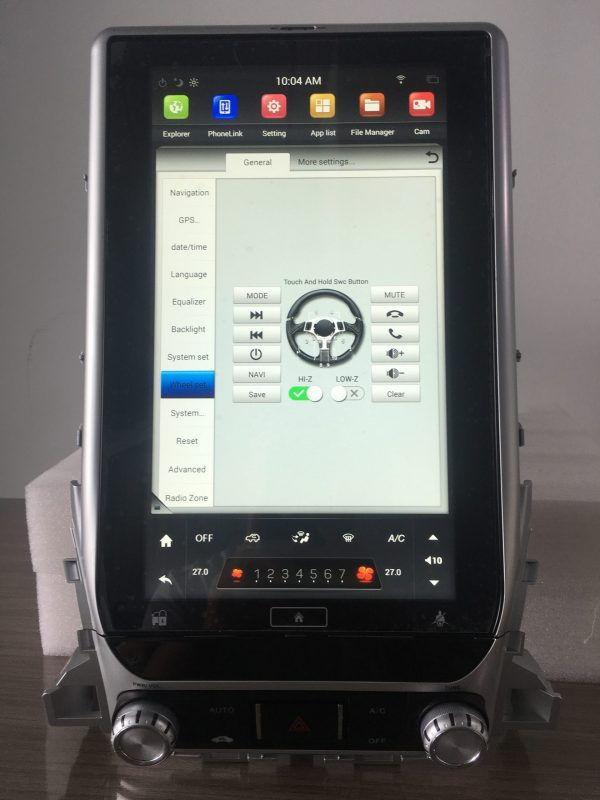 ランクルLC200 テスラナビ ステアリングコントロール設定