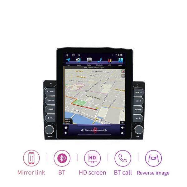 2DIN車用 アンドロイドナビ マップ画面