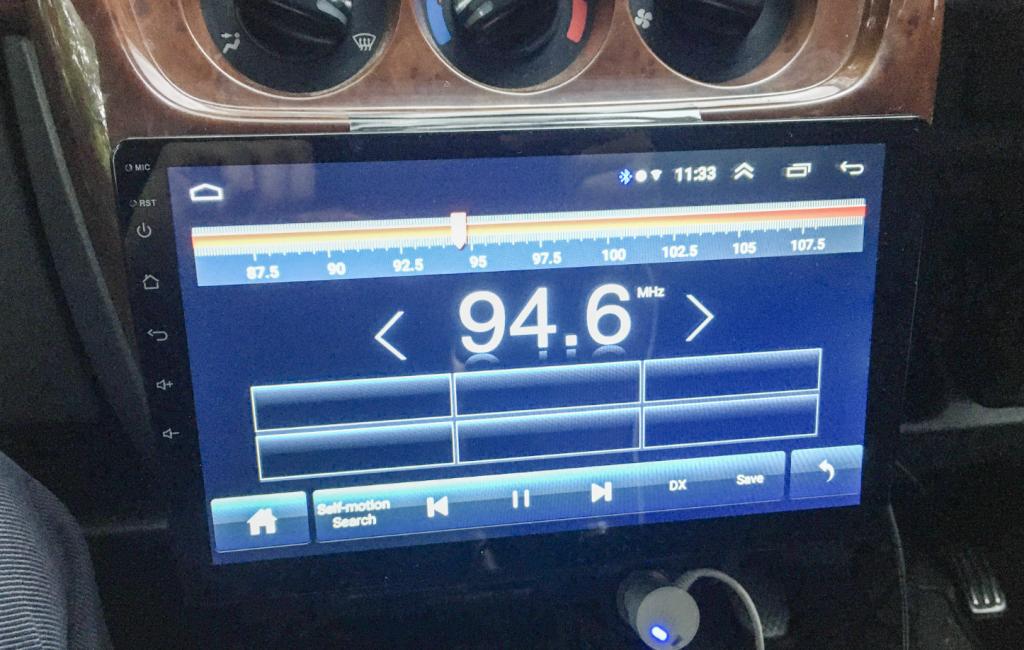 アンドロイドナビでラジオを視聴するための操作画面