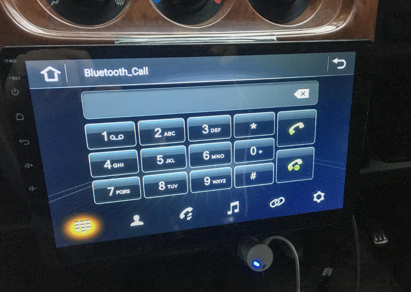 アンドロイドナビのBluetooth接続画面