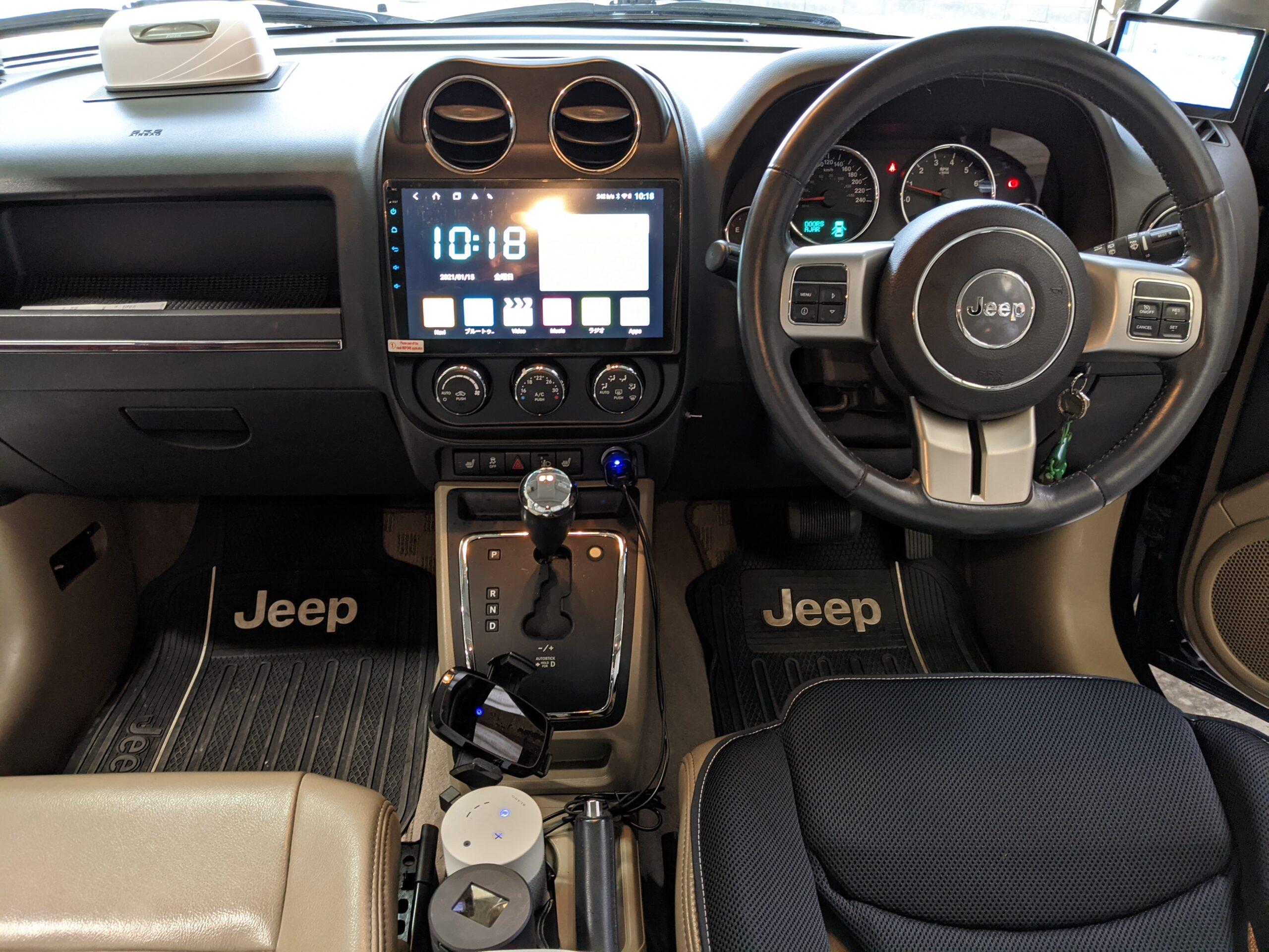 Jeepパトリオットアンドロイドナビ取付け後画像