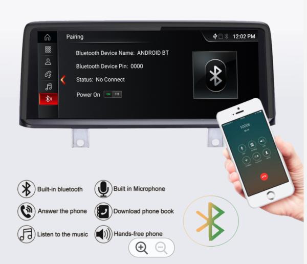 BMWカーナビ交換後Bluetoothが使えます。