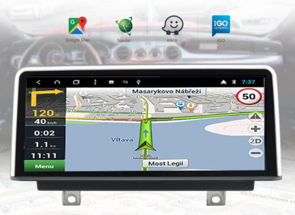 BMWカーナビ交換後のMAPアプリ